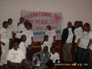 Youth celebrate Interntational day of peace 2009 in Bulawayo